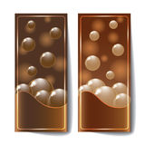 Banners with dark chocolate texture. Royalty Free Stock Photo