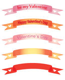 Banners for Day of Valentine Stock Images