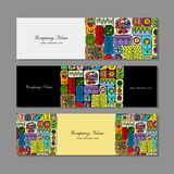 Banners design, ethnic floral ornament Stock Photography