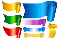 Banners die in kleuren worden geplaatst Stock Afbeeldingen