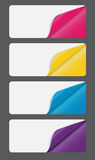 Banners with different corner Royalty Free Stock Image