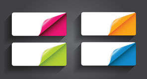 Banners with Different Corner and Place for Text. Stock Photo