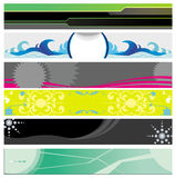 Banners on different themes Stock Images