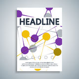 Banners dots connected by lines. Modern technology concept. Social network royalty free illustration