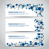 Banners dotted Royalty Free Stock Images