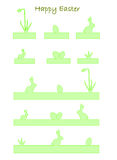 Banners with easter bunny, easter eggs (vector) Royalty Free Stock Images