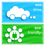 Banners eco drive. Royalty Free Stock Photo