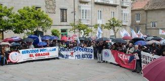 Banners en protest Stock Afbeeldingen