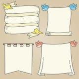 Banners en Vogels Royalty-vrije Stock Afbeeldingen