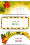 Banners of the environment.Autumn background. Stock Images