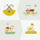 Banners for farming company vector illustration