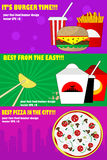Banners for the fast-food Royalty Free Stock Images