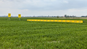Banners in the Field Stock Images
