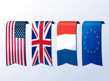 Banners of flags. Stock Image