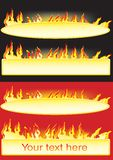 Banners with the flame. Vector illustration for Banners with the flame Stock Photography