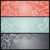 Banners with floral pattern in retro style Royalty Free Stock Photos