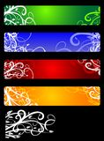Banners with flowers Stock Photos