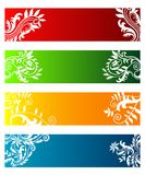 Banners with flowers Royalty Free Stock Photo