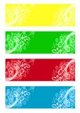 Banners with flowers Royalty Free Stock Photography