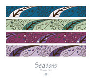 Banners with four seasons Royalty Free Stock Photo