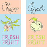 Banners with fruit Stock Photo