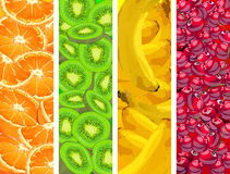 Banners with fruit background Royalty Free Stock Photos