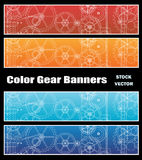 Banners with gears Stock Photo