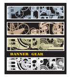 Banners with gears Stock Images