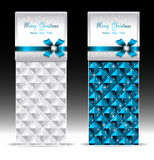 Banners or gift card with bow geometric pattern bl Stock Photography