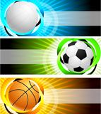 Banners with globe Stock Image