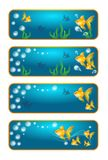Banners with goldfish Royalty Free Stock Images