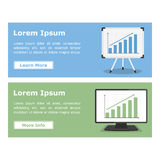 Banners with Graphs Stock Images