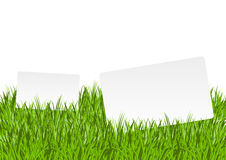 Banners in grass Stock Photography
