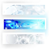 Banners in grey and blue colors Stock Images