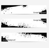 Banners with grunge elements. Set of three banners  with black grunge elements Royalty Free Stock Photos