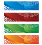 Banners in halftone and gradient Royalty Free Illustration