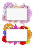 Banners with hand drawing flowers Royalty Free Stock Image