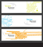 Banners having circuit designs. Banners having three different circuit designs on it (Vector EPS10 Stock Illustration