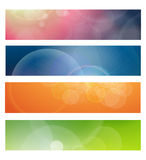 Banners, headers. Abstract lights vector illustration royalty free illustration
