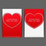Banners with Heart Stock Image