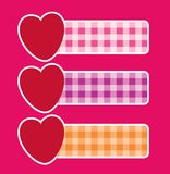 Banners with hearts Stock Image
