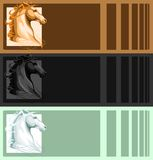 Banners with horse head Royalty Free Stock Images