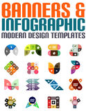 Banners and infographic modern design templates Royalty Free Stock Photography