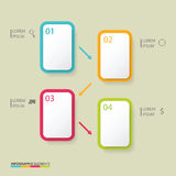 Banners infographic Royalty Free Stock Photography