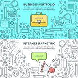 Banners for Internet Marketing and business portfolio Stock Images