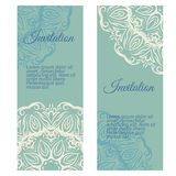 Banners invitation style retro vintage Stock Photography