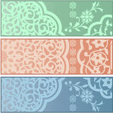 Banners with Islamic ornaments Royalty Free Stock Photo