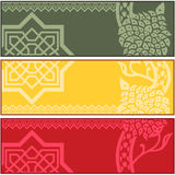 Banners with Islamic ornaments Stock Photos