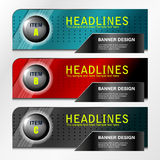 Banners item design Stock Photography