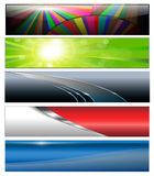 Banners, kopballen Royalty-vrije Stock Foto